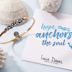 Anchor Medley Silver Bangle Bracelet