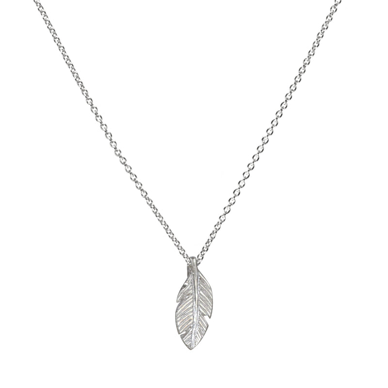 "Sterling Silver 16"" Light as a Feather Necklace"