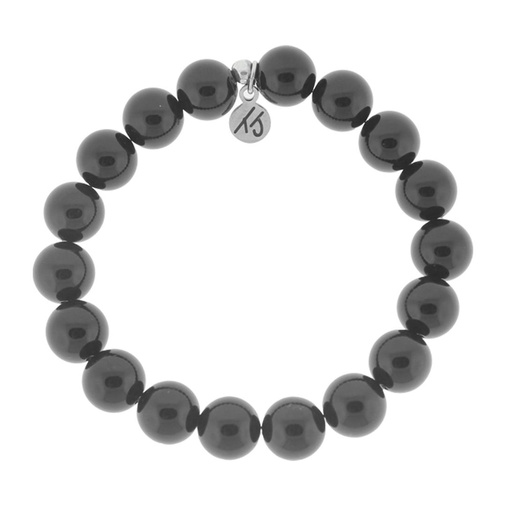 T. Jazelle Men's Onyx Beaded Bracelet