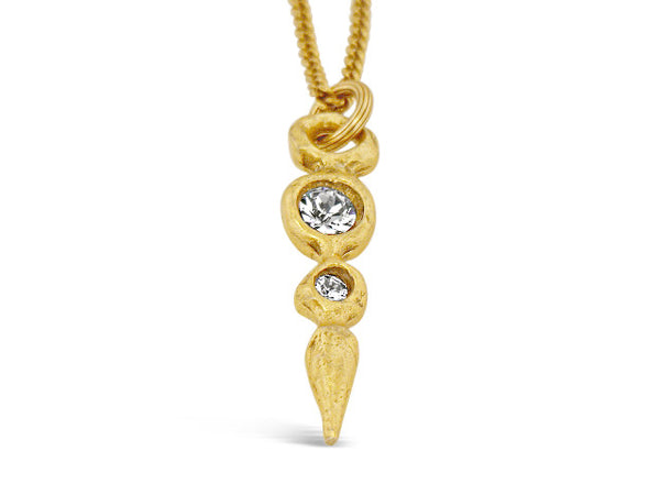 "18"" Gold Paloma Crystal Necklace"