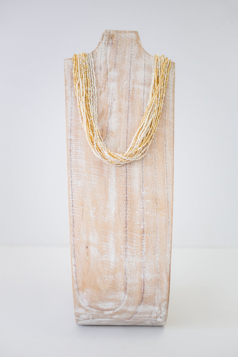 Gold Sweet Strands Glam Necklace