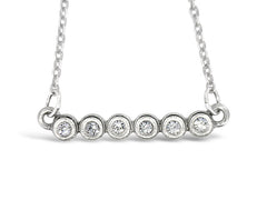 "18"" Silver Six Cylinder Crystal Necklace"
