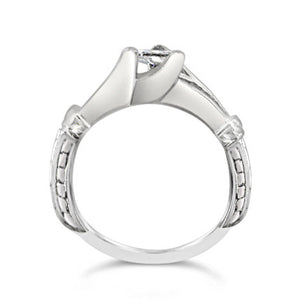 Platinum .41ct Engagement Ring