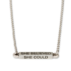 She Believed Silver Necklace