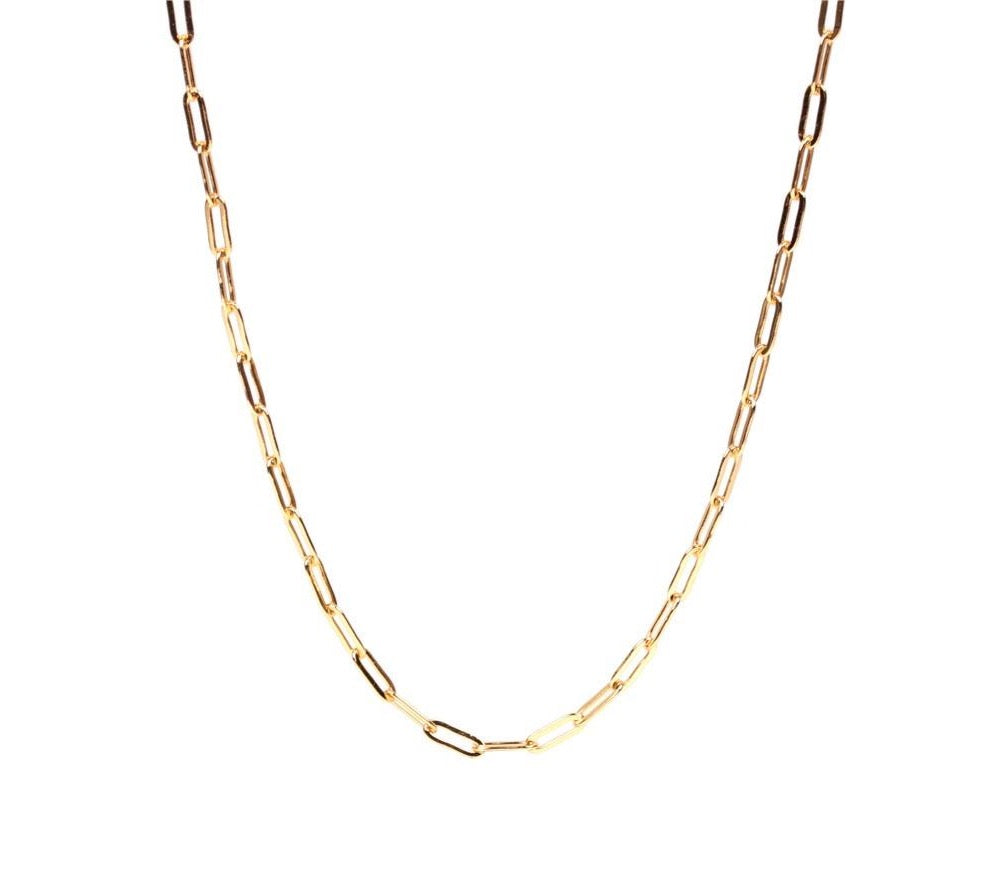Nespoli Jewelers Paperclip Chain Adjustable Necklace