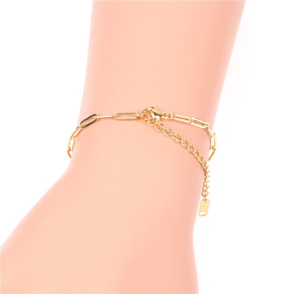 Paper Clip Chain Adjustable Bracelet
