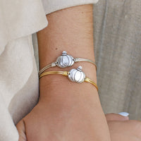 Pumpkin Silver Bangle Bracelet