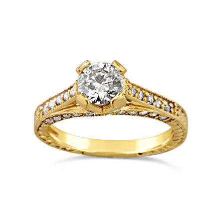 14kt 1.28ct Yellow Gold Engagement Ring