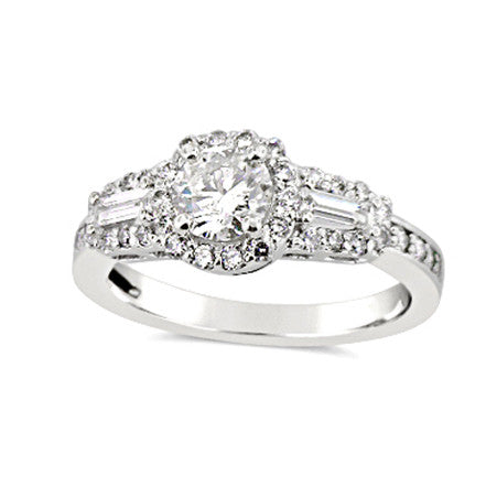 14kt 1.23ct White Gold Engagement Ring
