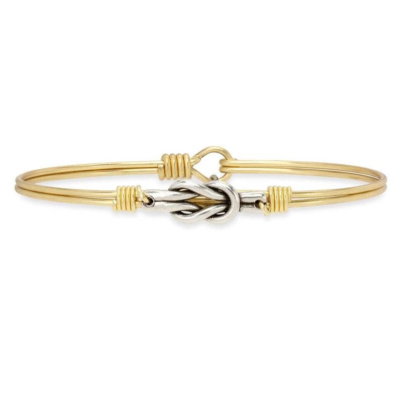 Luca and Danni Love Knot Gold Brass Bangle Bracelet