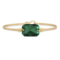 Luca and Danni Dylan Emerald Gold Brass Bangle Bracelet
