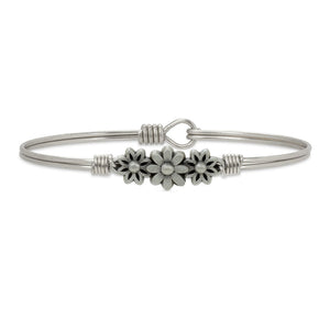 Luca and Danni Daisy Silver Bangle Bracelet