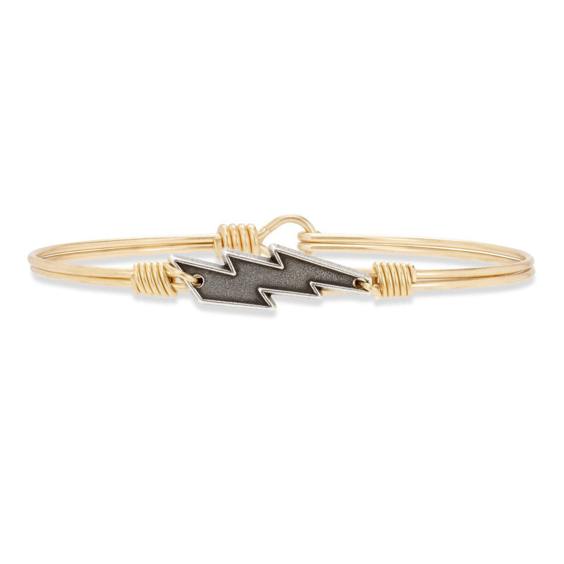 Bolt Brass Bangle Bracelet