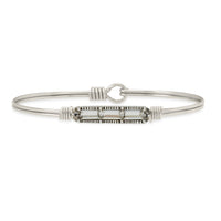 Luca and Danni Mini Hudson Crystal Silver Bangle Bracelet