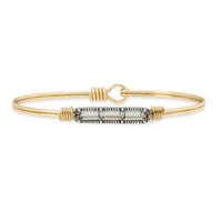 Mini Hudson Crystal Gold Brass Bangle Bracelet