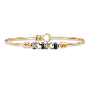 Luca and Danni Mini Hudson Luxe Ombre Brass Bangle Bracelet