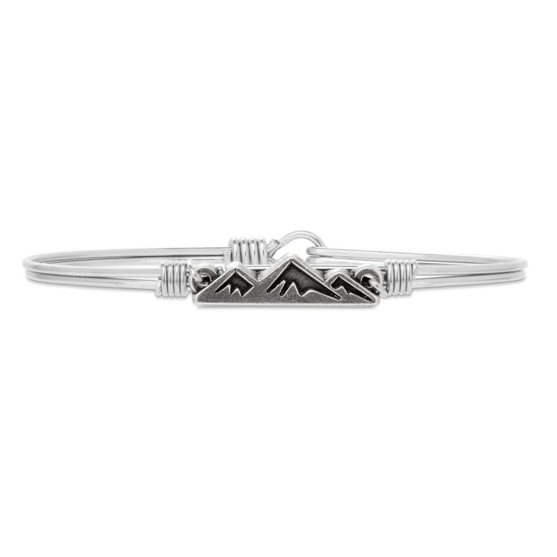 Luca and Danni Mountain Silver Bangle Bracelet