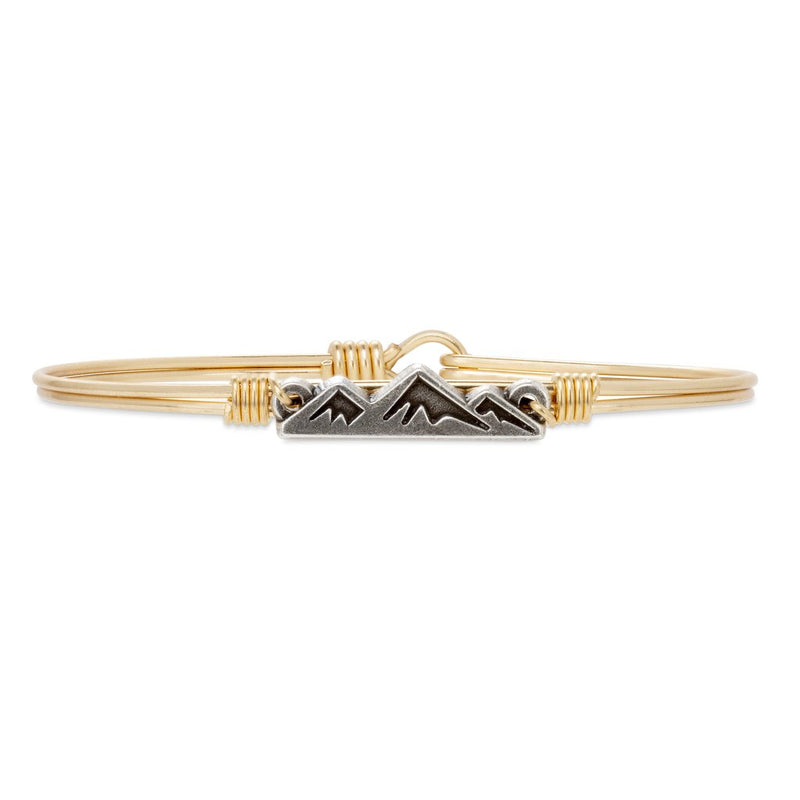Luca and Danni Mountain Gold Brass Bangle Bracelet
