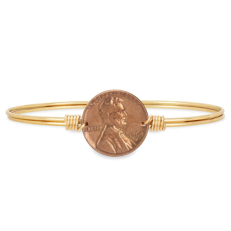 Luca and Danni Heavenly Pennies Brass Bangle Bracelet