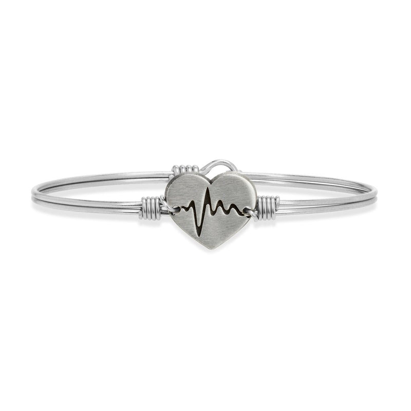 Luca and Danni First Responder Silver Bangle Bracelet