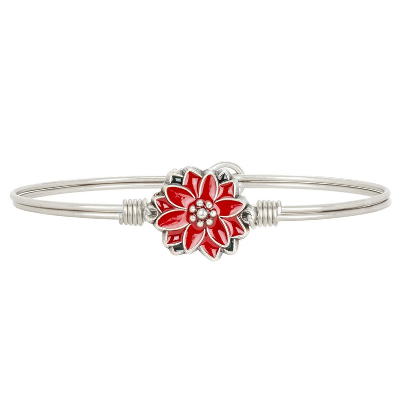 Luca and Danni Poinsettia Silver Bangle Bracelet