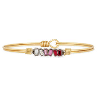 Luca and Danni Mini Hudson in Love Ombre Brass Bangle Bracelet