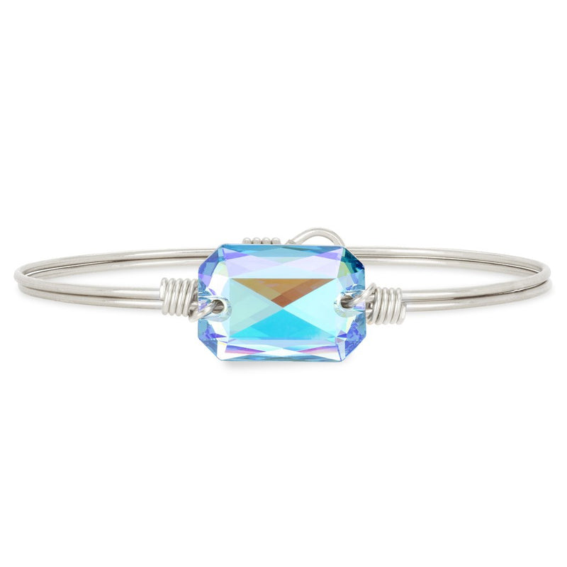 Luca and Danni Dylan Arctic Blue Silver Bangle Bracelet