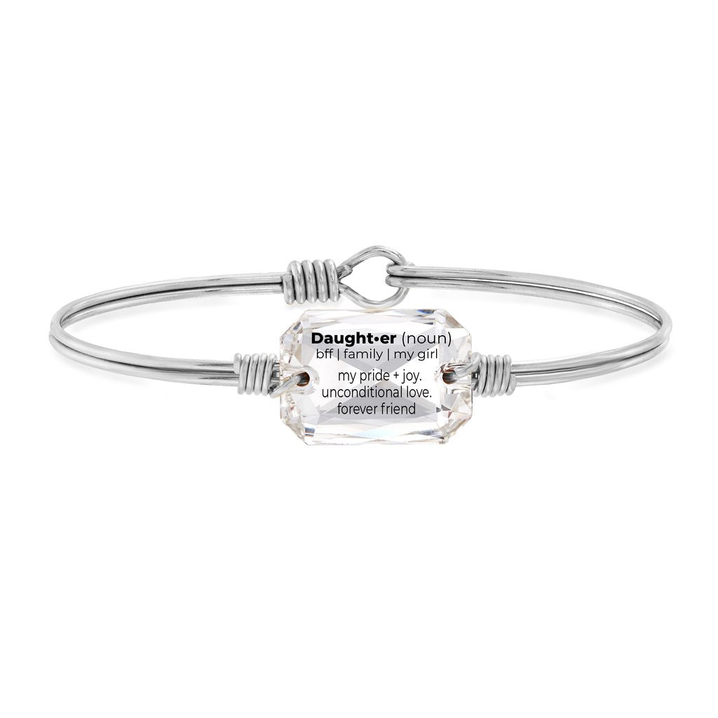 Luca and Danni  Daughter Definition Crystal Silver Bangle Bracelet