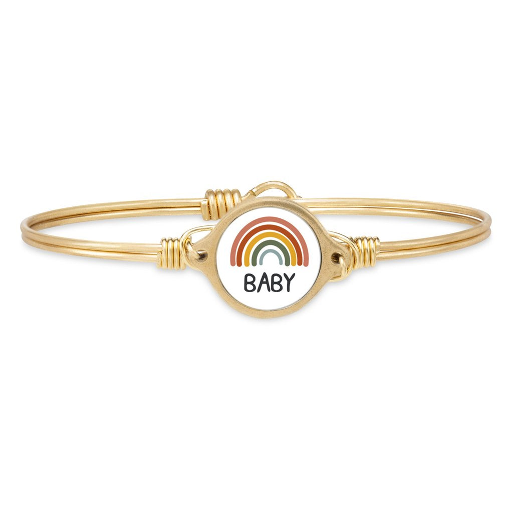 Luca and Danni Rainbow Baby Brass Bangle Bracelet