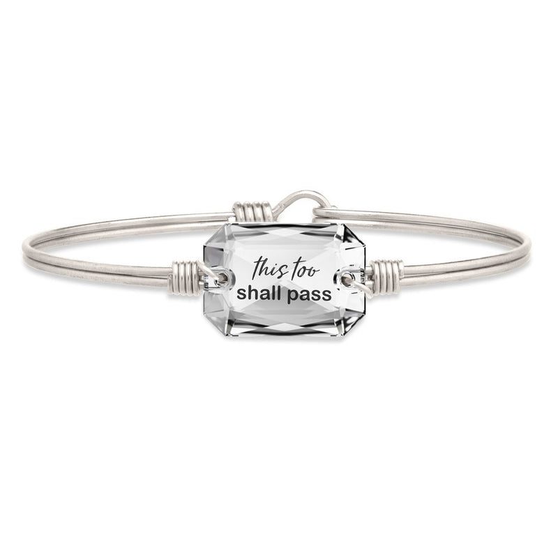 Luca and Danni This Too Shall Pass Silver Bangle Bracelet