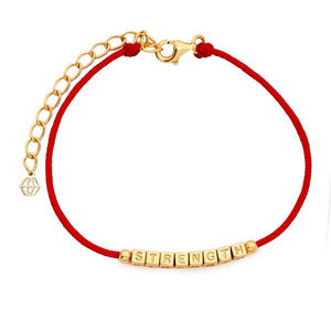 Little Words Project Refined Collection - Strength Red Cord Bracelet