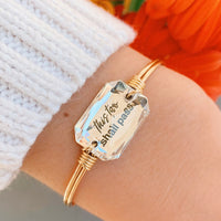 This Too Shall Pass Silver Bangle Bracelet