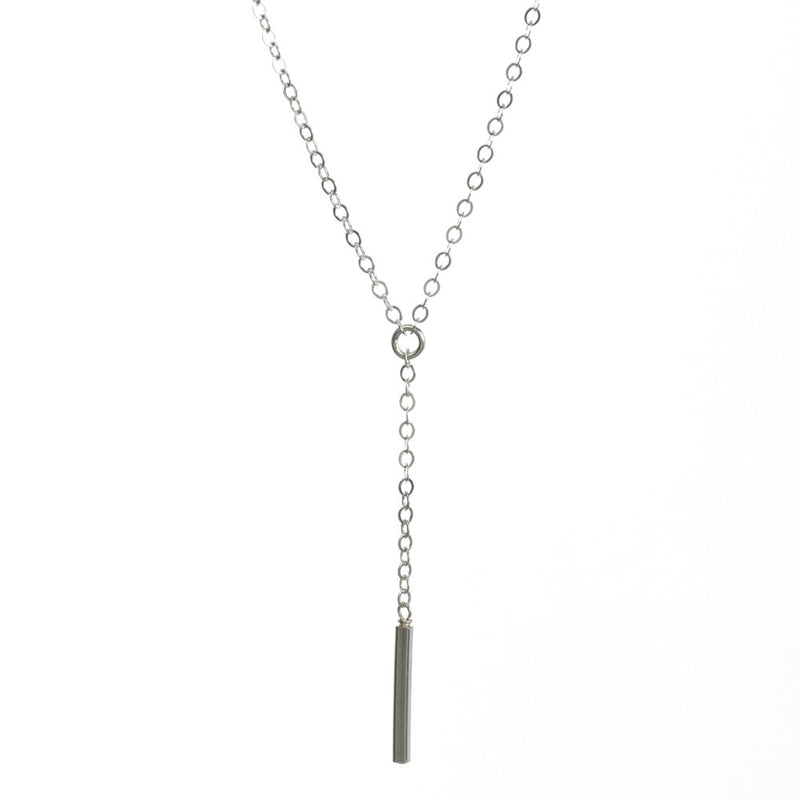 Sterling Silver Dare to...Little Y Square Bar Necklace