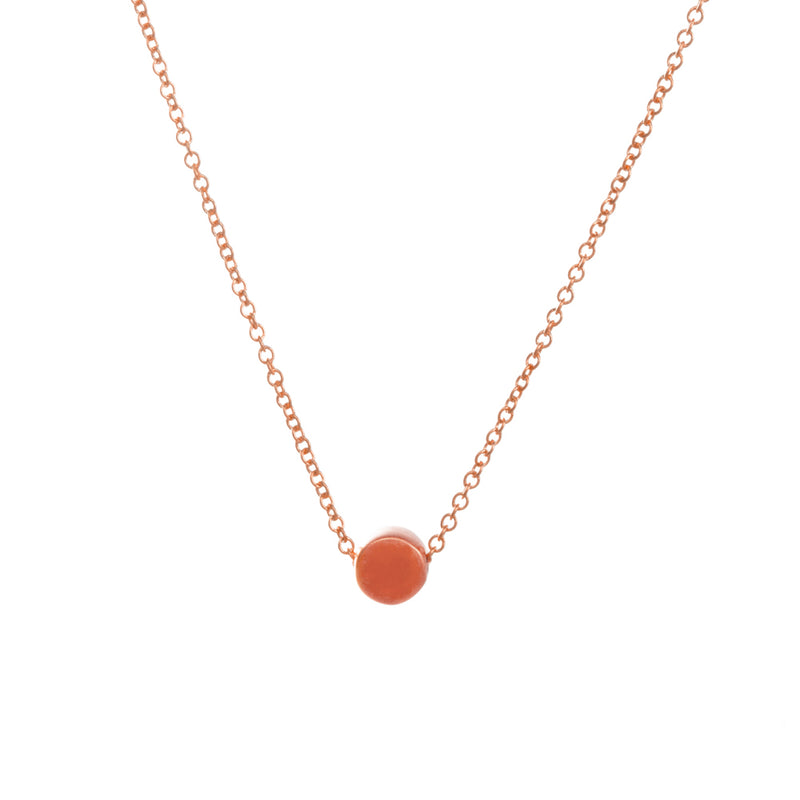 "Rose Gold Dipped 16"" The Circle Necklace"