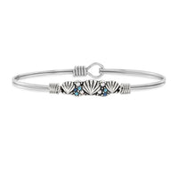 Luca and Danni Shell Medley Silver Bangle Bracelet