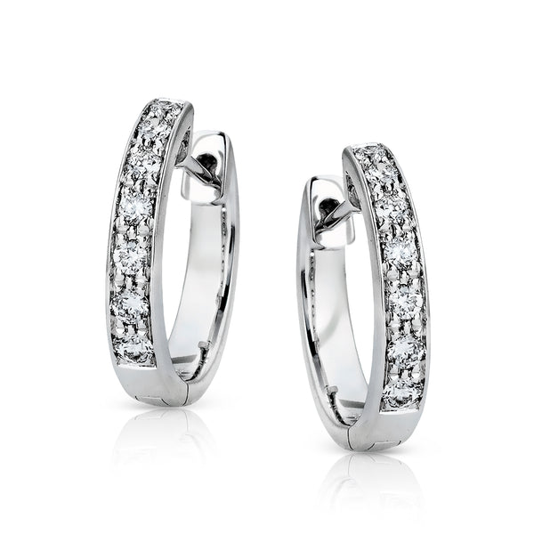 14k White Gold .23ct Diamond Earrings