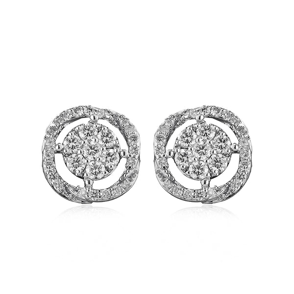 14k White Gold .43ct Diamond Studs