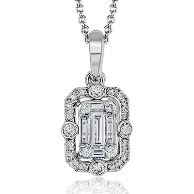 14k White Gold .26ct Diamond Necklace