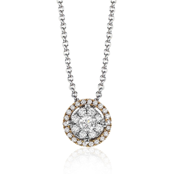 14k White Gold .21ct Diamond Necklace