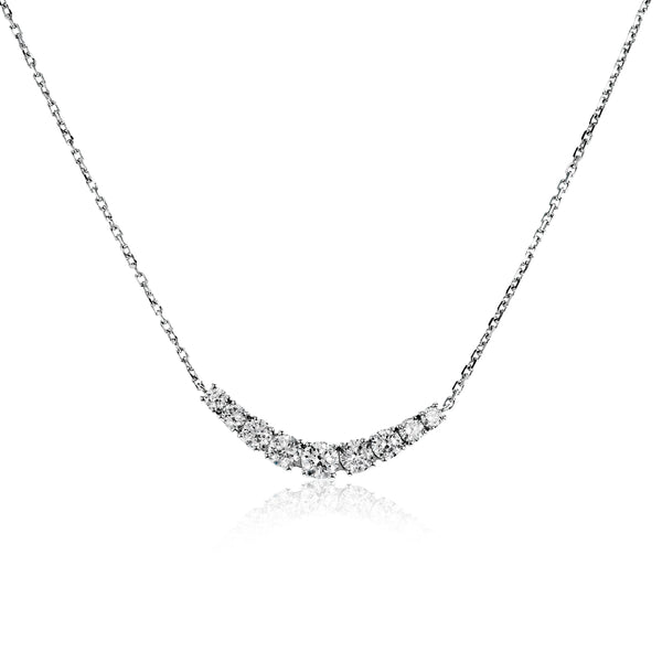 14k White Gold .52ct Diamond Necklace