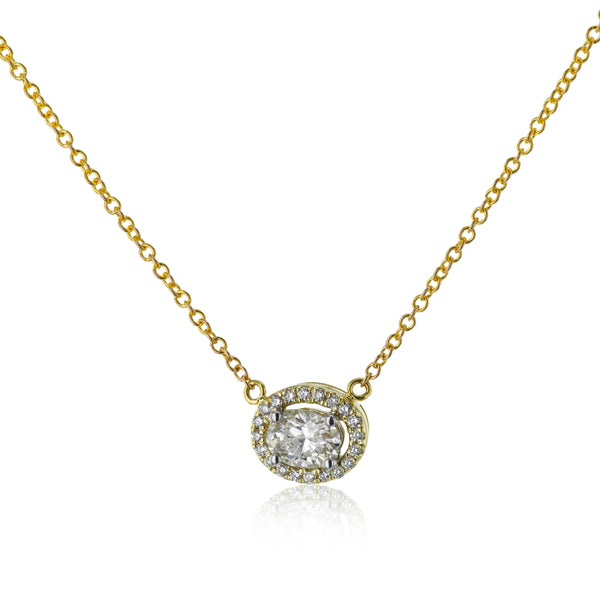 14k White and Yellow Gold .39ct Diamond Necklace
