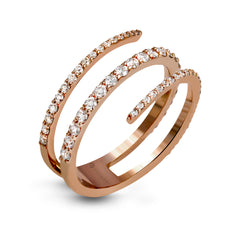 14k Rose Gold .77ct Diamond Right Hand Ring