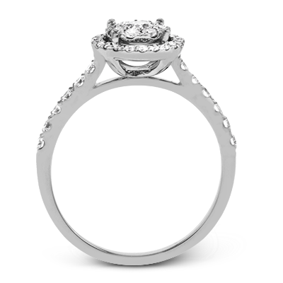 .57ct 14k White Gold Round Halo Engagement Ring