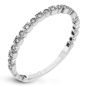 14kt White Gold .10ct Stackable Ring