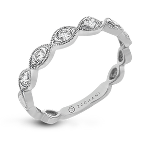 14kt White Gold .24ct Stackable Ring