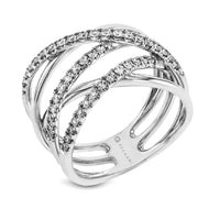 14kt White Gold .48ct Diamond Right Hand Ring
