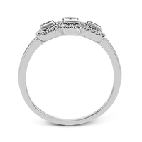 14k White Gold .33ct Diamond Three Stone Ring