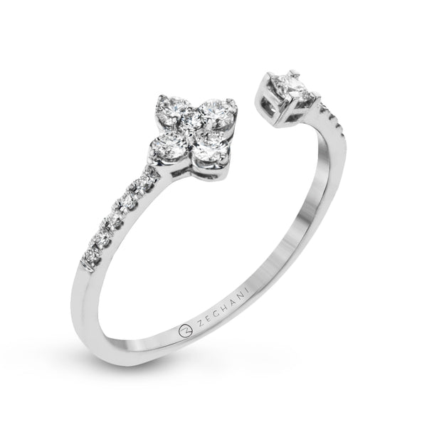 14k White Gold .25ct Diamond Open Ring