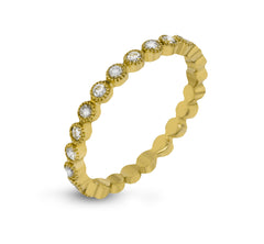 14k Yellow Gold .41ct Diamond Stackable Ring