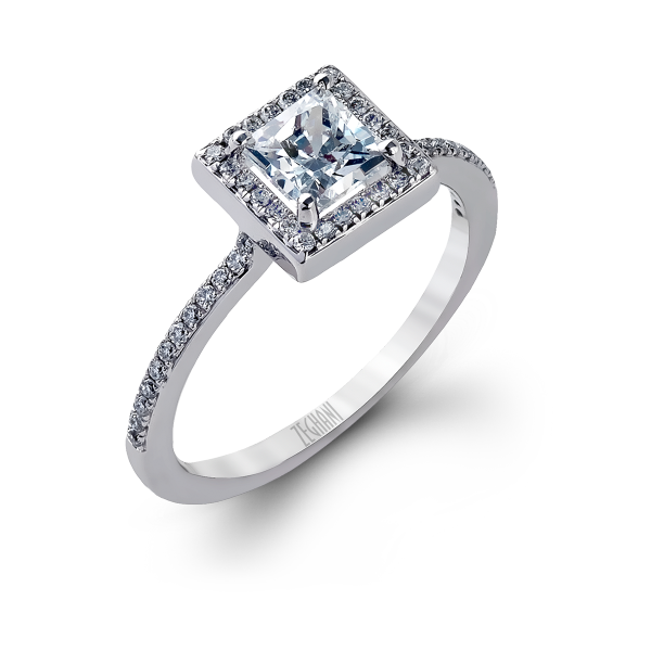 Zeghani 14k White Gold Engagement Ring 272